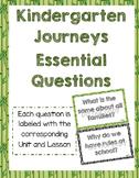 Journeys Essential Questions for Kindergarten
