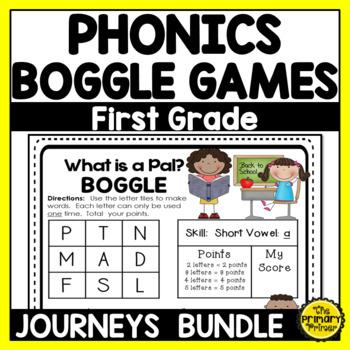 Journeys FIRST Grade  BOGGLE:  The BUNDLE