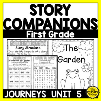 Journeys FIRST Grade Story Companions:  Unit FIVE
