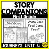 Journeys FIRST Grade Story Companions:  Unit FOUR