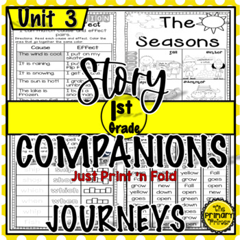 Journeys FIRST Grade Story Companions:  Unit THREE