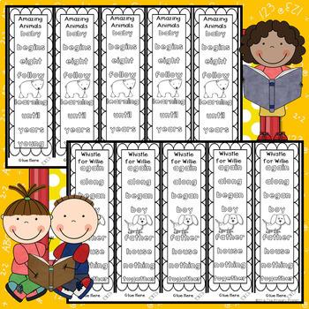 Journeys FIRST Grade Sight Word Bracelets/Bookmarks:  Unit FIVE