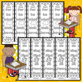 Journeys FIRST Grade Sight Word Bracelets/Bookmarks:  Unit ONE
