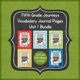 Journeys Fifth Grade Vocabulary Journal Pages Unit 1 Bundle