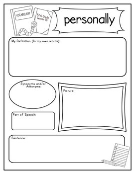 Journeys Fifth Grade Vocabulary Journal Pages Unit 3 Bundle