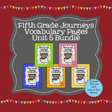 Journeys Fifth Grade Vocabulary Journal Pages Unit 5 Bundle
