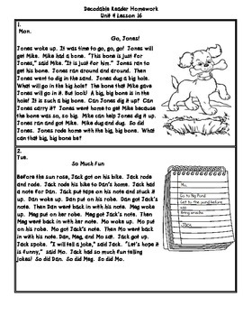 Journeys First Grade (2011) Decodable Readers Unit 4
