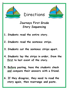 Journeys First Grade Reading 2013 Story Sequencing