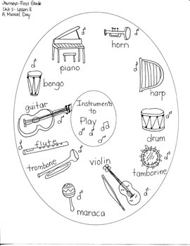Journeys First Grade: A Musical Day: Unit 2/Lesson 8 Sequence of Events/ Maps
