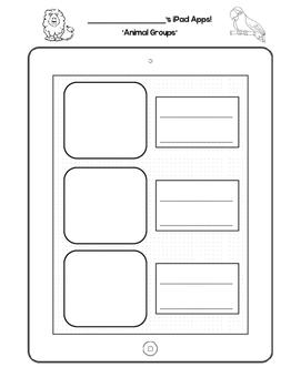 Journeys First Grade Animal Groups iPad Template
