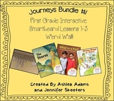 Journeys (2011-2012) First Grade BUNDLE #1 (Smartboard Lessons 1,2,3, Word Wall)