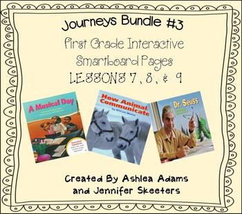 Journeys (2011-2012 edition) First Grade BUNDLE #3 (Smartboard Lessons 7,8,9)