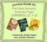 Journeys (2011-2012 edition) First Grade BUNDLE #4 (Smartboard Lessons 10,11,12)