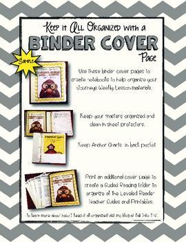 Journeys First Grade Binder Covers