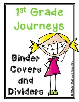 Journeys First Grade Binder Covers Organizing Tool