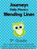 Journeys First Grade Phonic Skill Blend It Lines