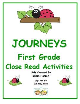 Journeys First Grade Close Reading Activities 2013 Edition