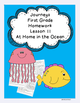 Journeys First Grade Common Core Homework Lesson 11 At Hom