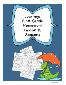 Journeys First Grade Common Core Homework Lesson 13 Seasons