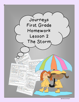 Journeys First Grade Common Core Homework Lesson 2 The Storm