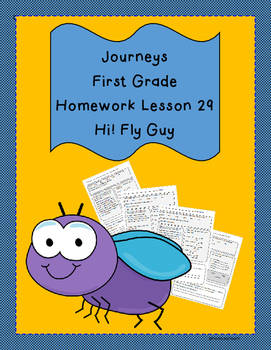 Journeys First Grade Common Core Homework Lesson 29 Hi Fly Guy