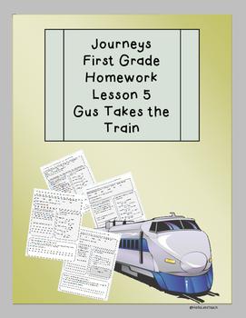 Journeys First Grade Common Core Homework Lesson 5 Gus Tak
