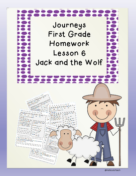 Journeys First Grade Common Core Homework Lesson 6 Jack and the Wolf