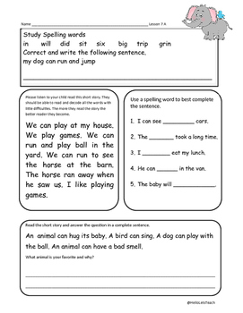 Journeys First Grade Common Core Homework Lesson 7 How Animals Communicate