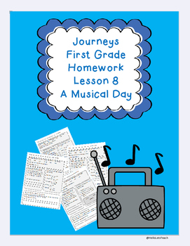 Journeys First Grade Common Core Homework Lesson 8 A Musical Day