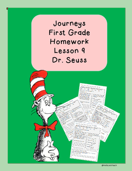 Journeys First Grade Common Core Homework Lesson 9 Dr. Seuss