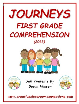 Journeys First Grade Comprehension Activities 2013 Edition