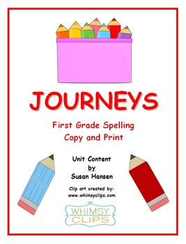 Journeys First Grade Copy and Print Spelling Words