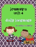 Journeys First Grade Daily Language Freebie Unit 4