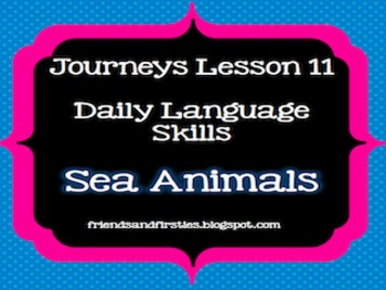 Journeys First Grade Daily Language Lesson 11