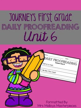 Journeys First Grade Daily Proofreading Unit 6