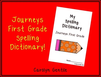 Journeys First Grade Dictionary