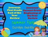 Journeys first Grade End Year Review /Second Grade Beginni