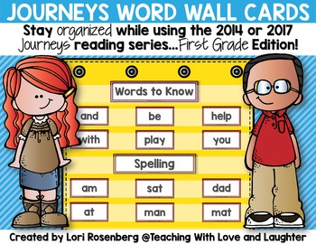 Word Wall Cards {For Use With First Grade Journeys}