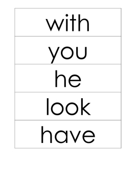 Journeys First Grade High Frequency Word Wall Cards - large version