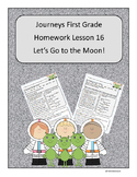 Journeys First Grade Reading Homework Lesson 16 Let's Go to the Moon
