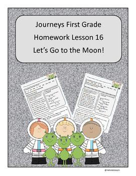Journeys First Grade Reading Homework Lesson 16 Let's Go t