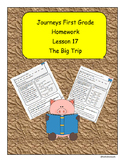 Journeys First Grade Reading Homework Lesson 17 The Big Trip