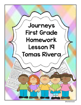 Journeys First Grade Homework Lesson 19 Tomas Rivera