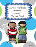 Journeys First Grade Homework lesson 25 A The New Friend