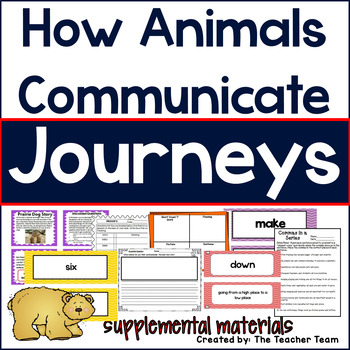 How Animals Communicate Journeys First Grade Supplemental