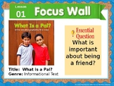 Journeys First Grade Lesson 1 Focus Wall (Editable)
