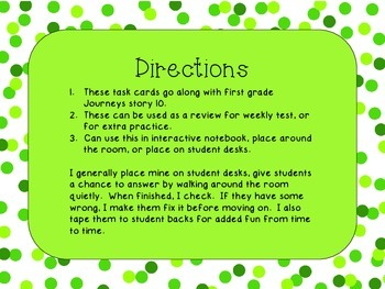 Journey's First Grade Lesson 10 A Cupcake Party Comprehension Task Cards