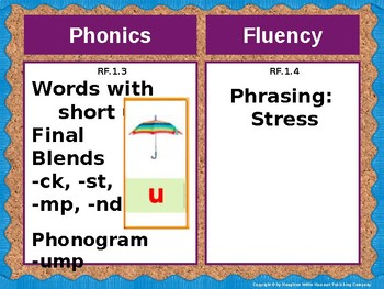 Journeys First Grade Lesson 10 Focus Wall (Editable)