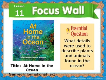 Journeys First Grade Lesson 11 Focus Wall Editable