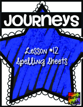 Journeys First Grade Lesson 12 Spelling